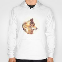 wolf Hoodies featuring Wolf // True by Amy Hamilton