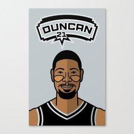 Tim Duncan Canvas Print