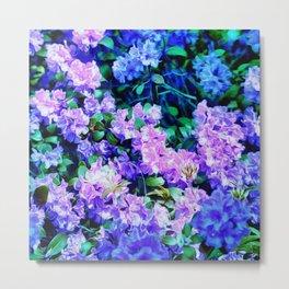Flowers Flowers Blue Flowers Metal Print
