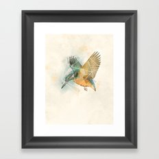 Geo Kingfisher Framed Art Print