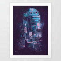 r2d2 Art Prints featuring R2D2 by Sitchko Igor