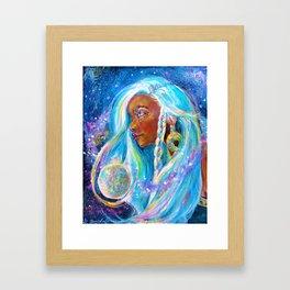 Selene the Moon goddess Framed Art Print