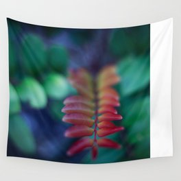 Red Leaf Wall Tapestry