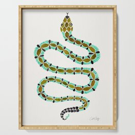 Turquoise Serpent Serving Tray
