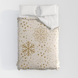 Golden Snowflakes Christmas Collection Comforters