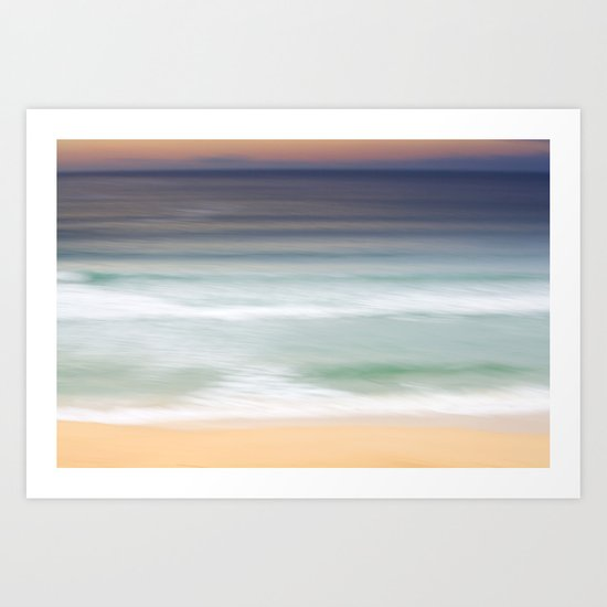 The Beach at Nisabost Art Print