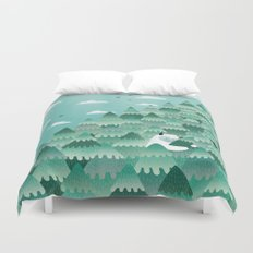 Tree Hugger (Spring & Summer version) Duvet Cover