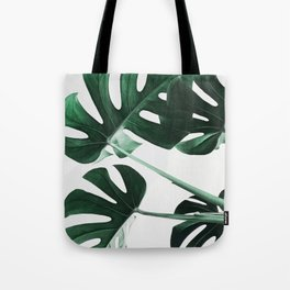 Monstera, Leaves, Plant, Green, Scandinavian, Minimal, Modern, Wall art Tote Bag
