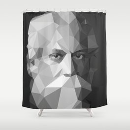 Rabindranath Tagore (7 May 1861 – 7 August 1941) Shower Curtain