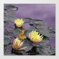 tinker bell Canvas Prints featuring tinker bell & tiger lilies by EnglishRose23