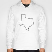 texas Hoodies featuring Texas by mrTidwell