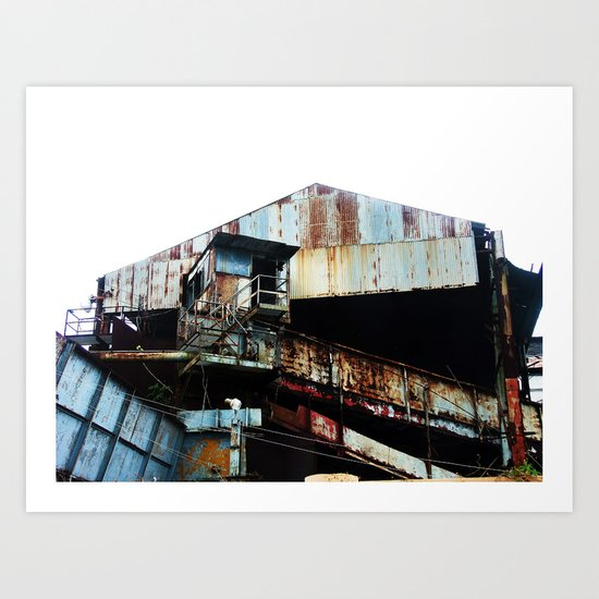 "Old Sugar processing plant ""Coloso"" 3 @ Aguada Art Print"