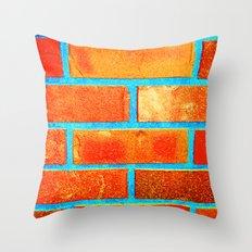 Brick1 Throw Pillow