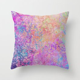 Chipping Rainbow Throw Pillow