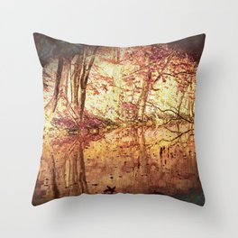 River Bank Throw Pillow