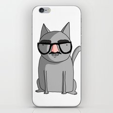 Cat with Groucho Glasses iPhone Skin