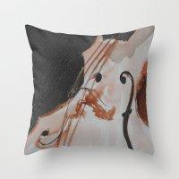 violin Throw Pillows featuring violin by Anja Kidrič AdAk