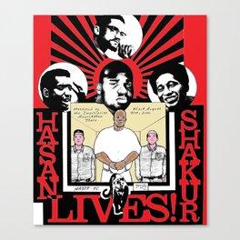 Hasan Shakur Lives Red Poster Canvas Print