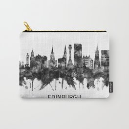 Edinburgh Scotland Skyline BW Carry-All Pouch
