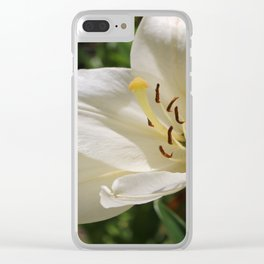 White Beauty Clear iPhone Case
