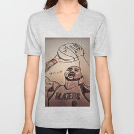 Damien Lillard by Double R Unisex V-Neck