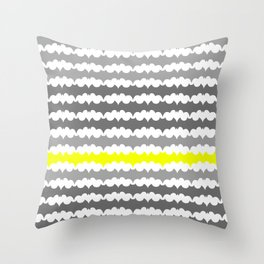 Gray and Yellow Abstract Pillow Throw Pillow