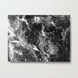 Galaxy (B/W) Metal Print