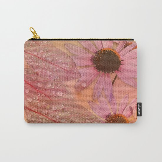 Raindrops on leaves and flowers Carry-All Pouch