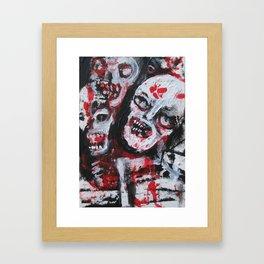 HORDES # 654 zombie themed art  Framed Art Print
