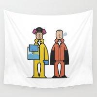 jesse pinkman Wall Tapestries featuring Walter & Jesse by Sr.Pandita