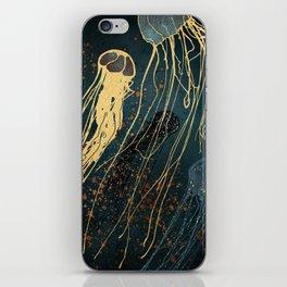 Metallic Jellyfish iPhone Skin