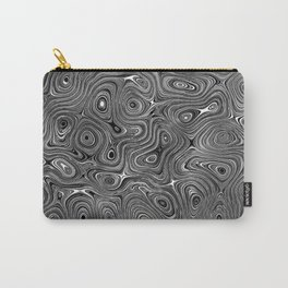 Abstract fancy grey black white design Carry-All Pouch