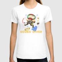 scuba T-shirts featuring Scuba dive by Alapapaju
