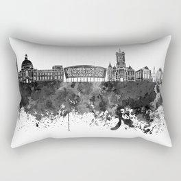 Cardiff skyline in black watercolor Rectangular Pillow