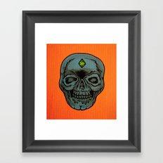 poverty skull Framed Art Print