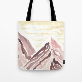 Abstract Mountain Study 3 Yellow Ochre & Violet Hematite Tote Bag