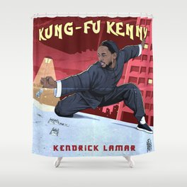 Kung Fu Kenny Shower Curtain