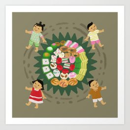 Indonesian Marketplace Nibbles Art Print