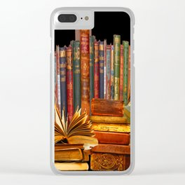 SHABBY CHIC ANTIQUE LIBRARY BOOKS, LEDGERS &  BOOKS Clear iPhone Case