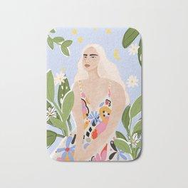 Abstract dress Bath Mat