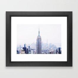 New York City - Manhattan Cityscape - Empire State Building Photograph Framed Art Print