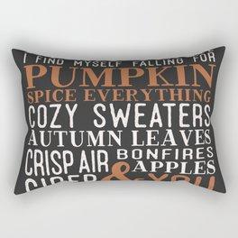 Pumpkin Spice Everything Rectangular Pillow