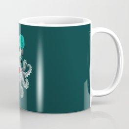 Teal Blue Day of the Dead Sugar Skull Baby Octopus Coffee Mug