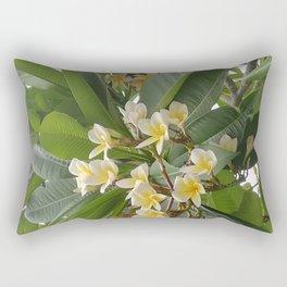 Kalachuchi, Plumeria rubra, temple flower Rectangular Pillow