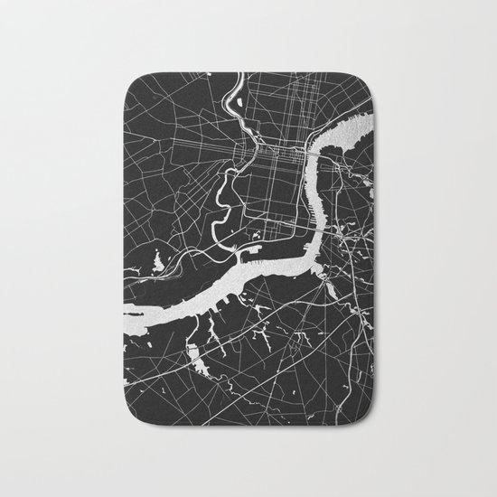 Philadelphia - Black and Silver Bath Mat