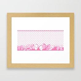Polka dots and Ribbons Framed Art Print