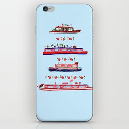 Red Pandas and Canal boats iPhone Skin