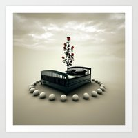 bed Art Prints featuring Bed by Pedro Alvarez