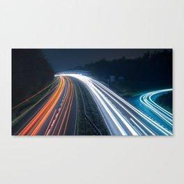 Light Trails Canvas Print