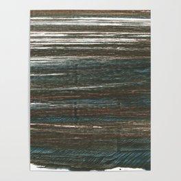 Olive lines Poster